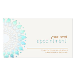 Elegant Turquoise Lotus Floral Appointment Card Pack Of Standard Business Cards