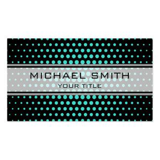 Elegant Turquoise Polka Dot Pattern Pack Of Standard Business Cards