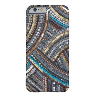 Elegant turquoise sequined barely there iPhone 6 case
