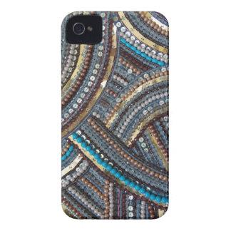 Elegant turquoise sequined Case-Mate iPhone 4 case