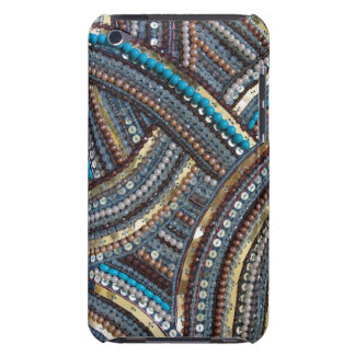 Elegant turquoise sequined iPod touch Case-Mate case