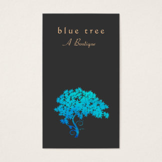 Elegant  Turquoise Zen Tree Logo Black