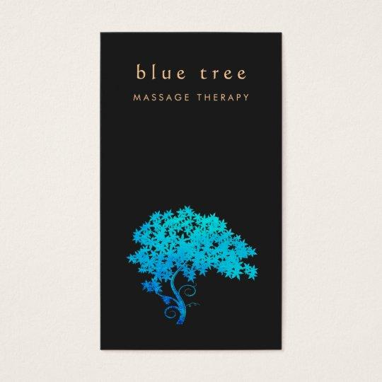 Elegant Turquoise Zen Tree Logo Black 2 Business