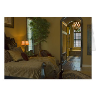 Elegant Tuscan Bedroom Blank Card