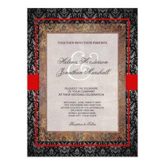Elegant Tuscan Damask Wedding Invitation
