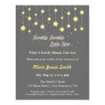 Elegant Twinkle Twinkle Little Star Baby Shower 11 Cm X 14 Cm Invitation Card