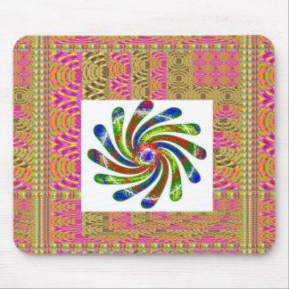 ELEGANT Twirl Wheel art Mousepads