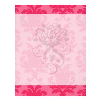 elegant two tone pink damask pattern custom flyer