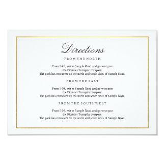 Elegant Type Black & White Gold Border Enclosure Card