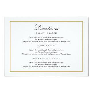 Elegant Type Black & White Gold Directions Insert Card
