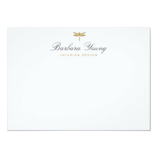 ELEGANT TYPE DRAGONFLY LOGO Flat Notecard 11 Cm X 16 Cm Invitation Card