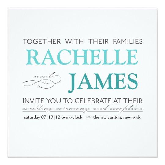 Elegant Type Wedding Invitation