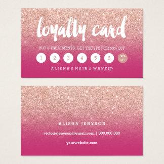 elegant typography magenta rose gold loyalty card