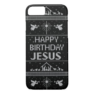Elegant Ugly Christmas Sweater Christian Religious iPhone 8/7 Case