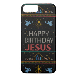 Elegant Ugly Christmas Sweater Christian Religious iPhone 8 Plus/7 Plus Case