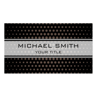 Elegant Umber Polka Dot Pattern Pack Of Standard Business Cards