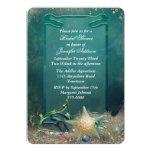 Elegant Under the Sea Bridal Shower 5x7 Paper Invitation Card