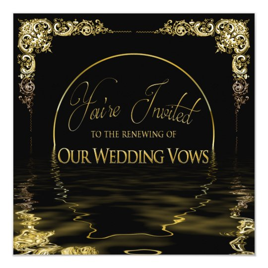 Unique Wedding Vows: Elegant & Unique Renewing Wedding Vows Invitation