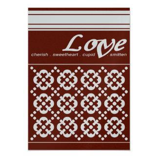 Elegant Valentine's Day Card 13 Cm X 18 Cm Invitation Card