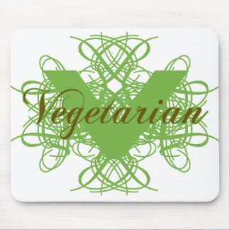 Elegant Vegetarian Mouse Pad
