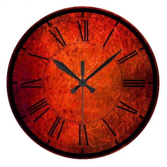 Elegant velvet red wall clock