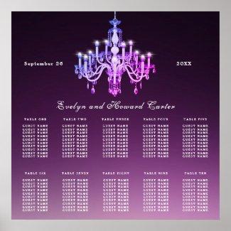 Elegant Venetian Chandelier | Wedding Seating Plan