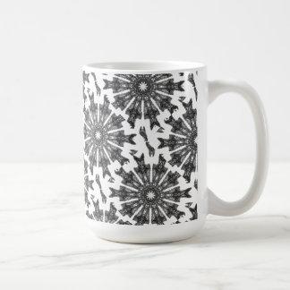 Elegant Victorian Black White Parasol Kaleidoscope Basic White Mug