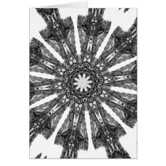 Elegant Victorian Black White Parasol Kaleidoscope Greeting Card