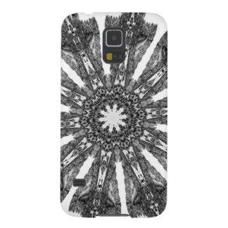 Elegant Victorian Black White Parasol Kaleidoscope Galaxy S5 Cover