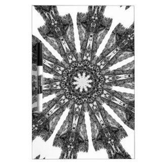 Elegant Victorian Black White Parasol Kaleidoscope Dry-Erase Whiteboard