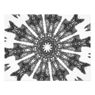 Elegant Victorian Black White Parasol Kaleidoscope Flyer Design