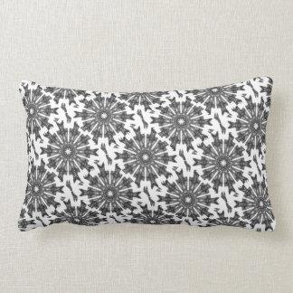 Elegant Victorian Black White Parasol Kaleidoscope Lumbar Pillow