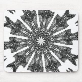 Elegant Victorian Black White Parasol Kaleidoscope Mouse Pad