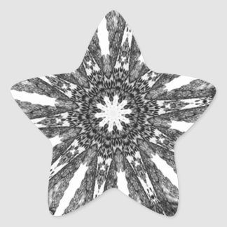 Elegant Victorian Black White Parasol Kaleidoscope Star Sticker