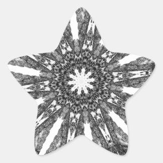 Elegant Victorian Black White Parasol Kaleidoscope Stickers
