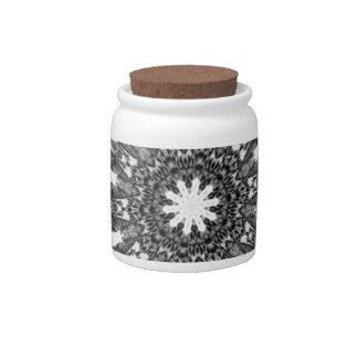 Elegant Victorian Black White Parasol Kaleidoscope Candy Jars