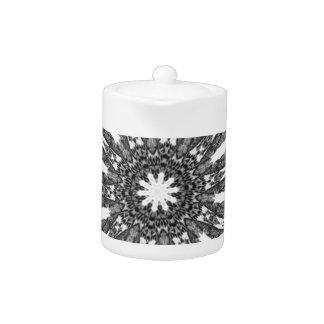 Elegant Victorian Black White Parasol Kaleidoscope