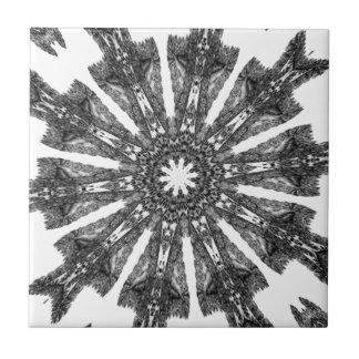 Elegant Victorian Black White Parasol Kaleidoscope Tiles