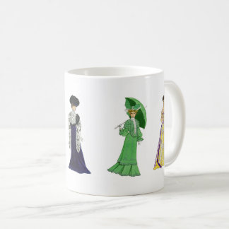 Elegant Victorian Fashion Dresses Coffee Mug