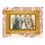 Elegant Victorian Fashions Postcard