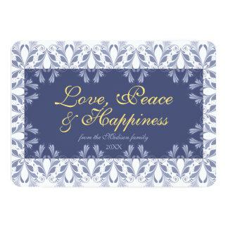 Elegant Victorian floral pattern Holidays 13 Cm X 18 Cm Invitation Card