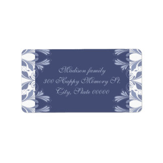 Elegant Victorian floral pattern Holidays Address Label