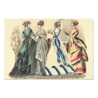 Elegant Victorian Ladies Fashions Photo Print
