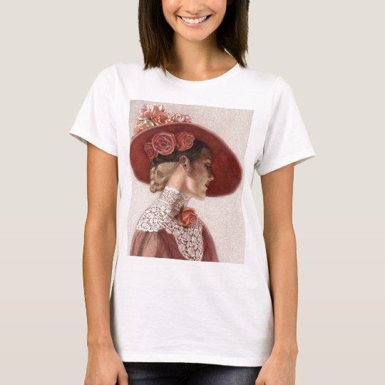 Elegant Victorian Lady Fine Art Vintage Rose Hat