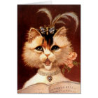 ELEGANT VICTORIAN PARLOR CAT w/ MUSIC ~ CARD