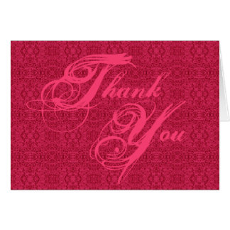 Elegant Victorian Pink Pattern Thank You Cards