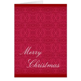 Elegant Victorian Rose Pattern Greeting Card