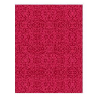 Elegant Victorian Rose Pattern Postcard