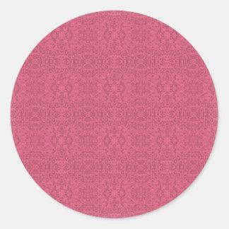 Elegant Victorian Rose Pattern Round Sticker