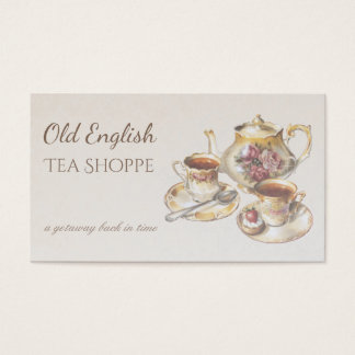 Elegant Victorian Vintage Antique Tea House Business Card